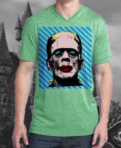 Middle Cat T-Shirt: Pop Art, Frankenstein in drag, Warhol style